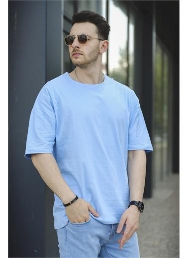 Oksit Tişört Mavi